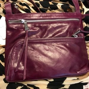 HOBO Cassie cross body in Egg Plant NWT